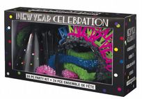 Neon Dots New Years Eve Party Kit For 8
